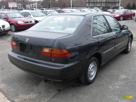 1992 Flint Black Metallic Honda Civic Lx Sedan 25500965