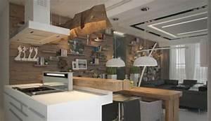 Holz Dekoration Modern : kreative interieur ideen extravagante ausstellung von innendesigns ~ Watch28wear.com Haus und Dekorationen