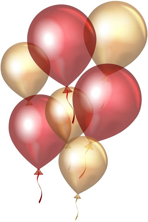 transparent red gold balloons png clip art gallery