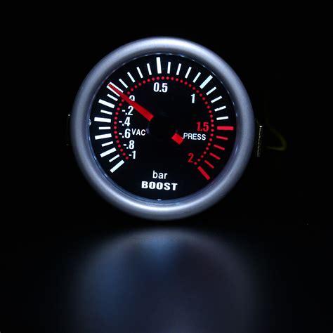 len 12v led universal 2 inch 52mm car auto led digital smoke len boost