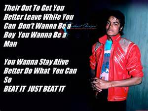 Michael Jackson Beat It Song Lyrics