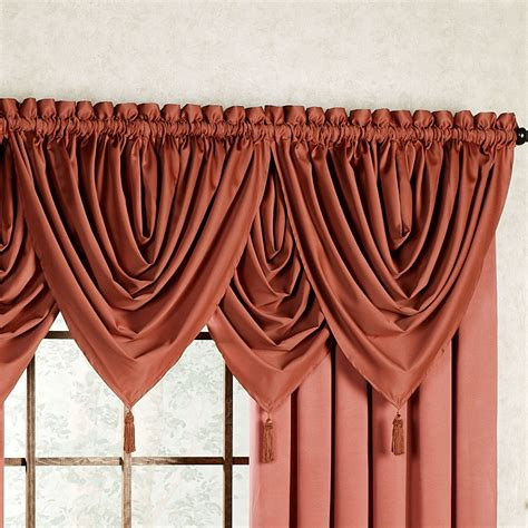 cheap waterfall valance curtains concord satin waterfall valance 47 x 39 touch of class