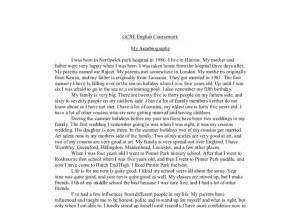 College Autobiography Essay Example