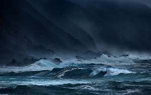 Sea, waves, storms, rocks, dark wallpaper | nature and ...