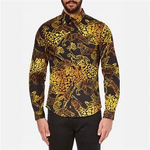 Versace Jeans Men's All Over Print Long Sleeve Shirt ...
