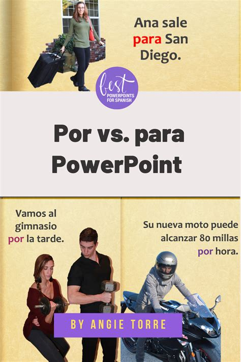 Spanish Por y Para PowerPoint and Activities Distance ...
