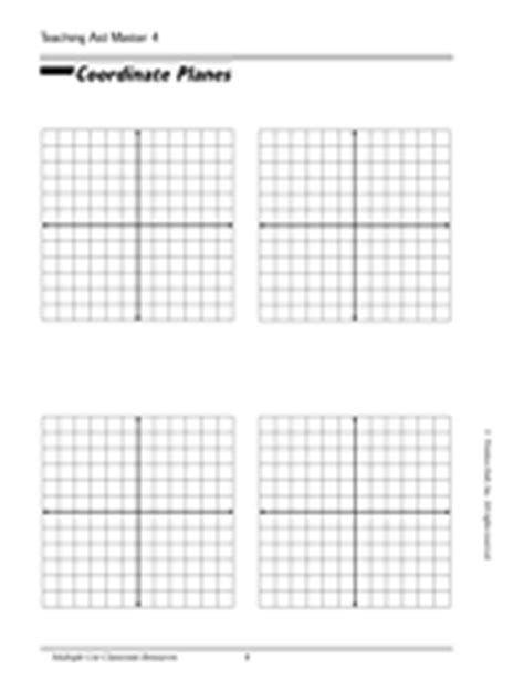 Blank Coordinate Plane Printable