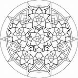 Mandala Coloring Pages Simple Mandalas Printable Colouring Adult Adults Colour Sheet Patterns Designs Printables Geometric Rose Therapy Unique Madala Glass sketch template