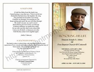 obituary program sample obituary template memorial With death program templates