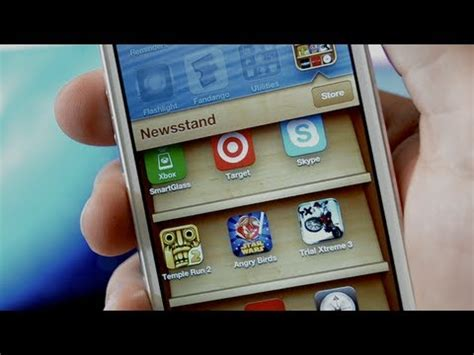 iphone 5 hack put apps into newsstand ios 6 glitch no jailbreak required youtube