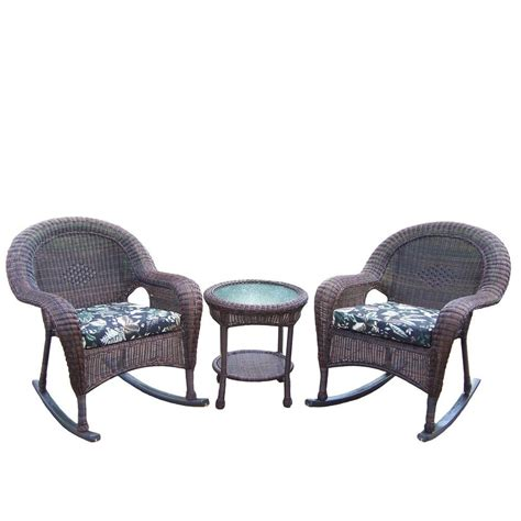 polywood presidential mahogany 3 patio rocker set