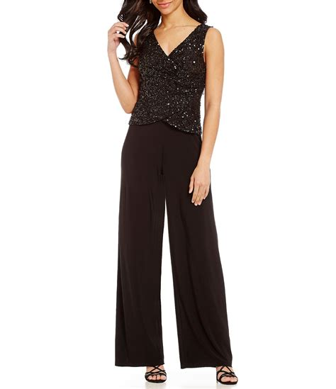 two jumpsuit papell beaded two jumpsuit dillards