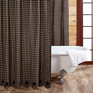 Tea Cabin Shower Curtain Patchwork 72x72 Country Primitive