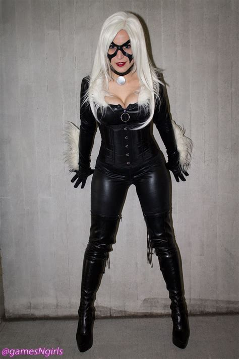 black cat cosplay cosplay   black cat  marvel
