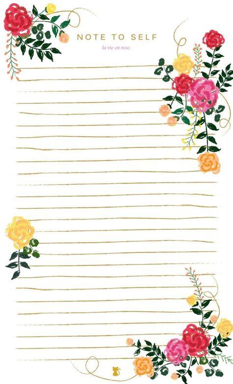 la vie en rose floral lined notepad   list notes home