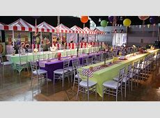 Carnival Themed B'nai Mitzvah Linen Rental Table Linens