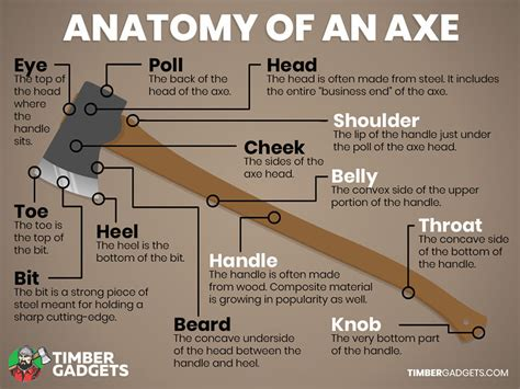 The Parts of an Axe - Timber Gadgets