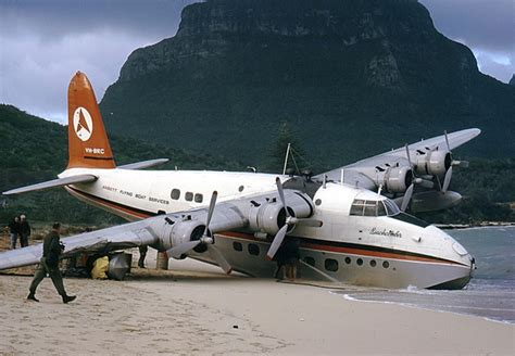 Flying Boat To Lord Howe Island by Lord Howe Island Flying Boat One Of The Survivor