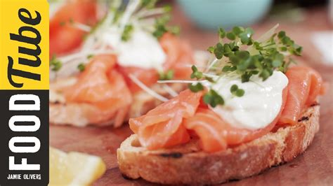 posh canapes recipes smoked salmon horseradish canapes oliver