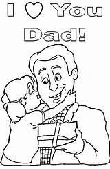 Coloring Dad Pages Daughter Father Fathers Happy Print Birthday Printable Quotes Colouring Cards Gifts Daddy Gift Printables Sheets Great Hubpages sketch template