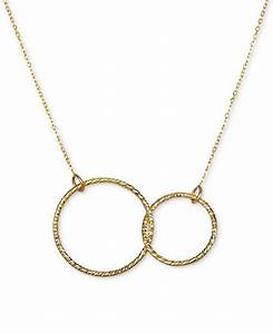 Macys Stock Chart Macy 39 S Interlocking Circle Pendant Necklace In 10k Gold