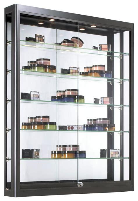 wall led display case matte black finish