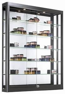 Halogen Light Clips Wall Led Display Case Matte Black Finish