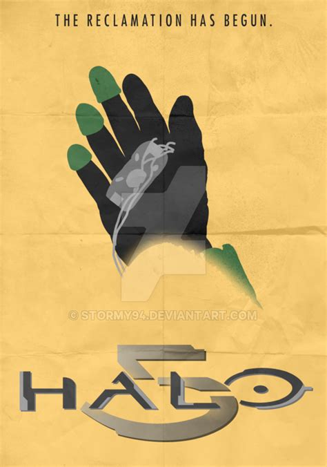 Halo 5 2014 Minimalist Poster By Stormy94 On Deviantart