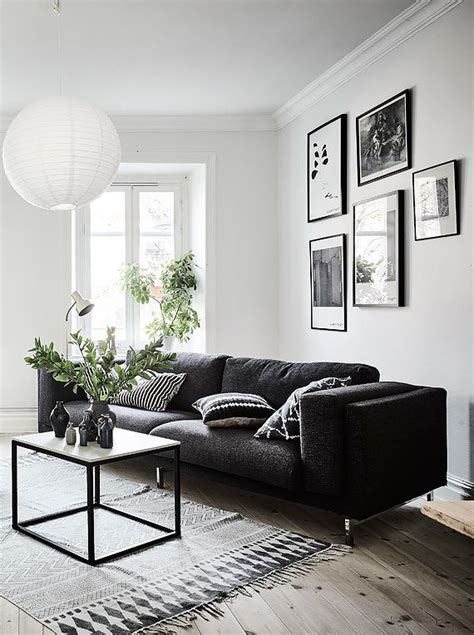 Living Room Decor Ideas Black And White by Living Room In Black White And Gray With Gallery