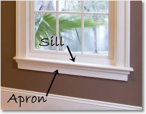 dont forget  apron window casing sills