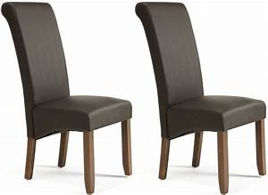 Serene Kingston Brown Faux Leather Dining Chair with