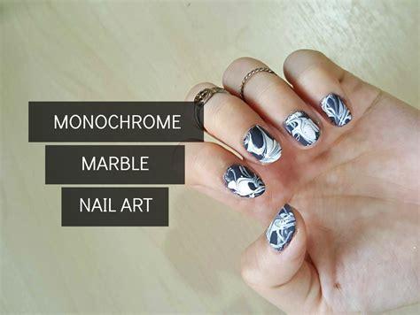 [diy] Quick & Easy Monochrome Marble Nail Art
