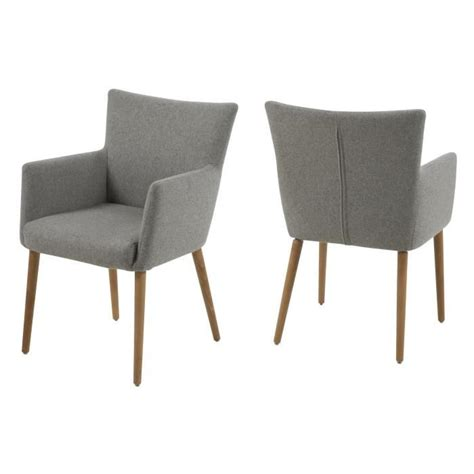 chaise avec accoudoir pas cher chaise de salle à manger nellie en tissu avec acco achat