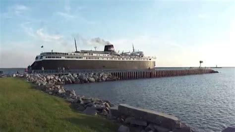 ss badger lake mi car ferry vstruck loud youtube