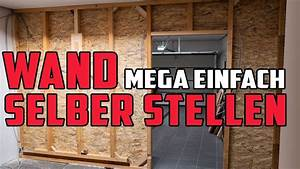 Garage Mit Holz Verkleiden : wand selber bauen st nderwerk aus holz mit osb verkleiden youtube ~ Watch28wear.com Haus und Dekorationen