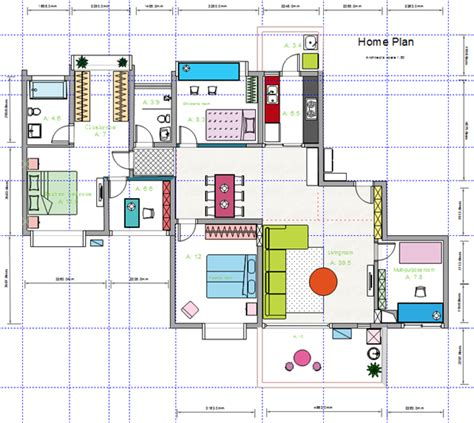 layout of house house floor plan design