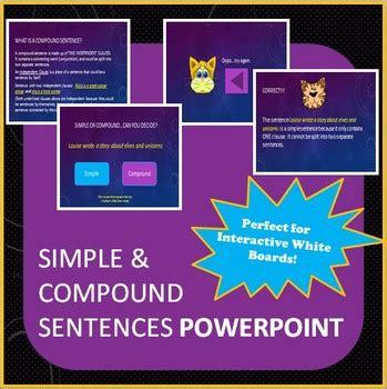 simple  compound sentences powerpoint  rib