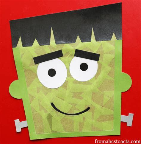 amp easy crafts for happiness is 608 | Halloween Crafts for Preschoolers Frankenstein Window Decoration