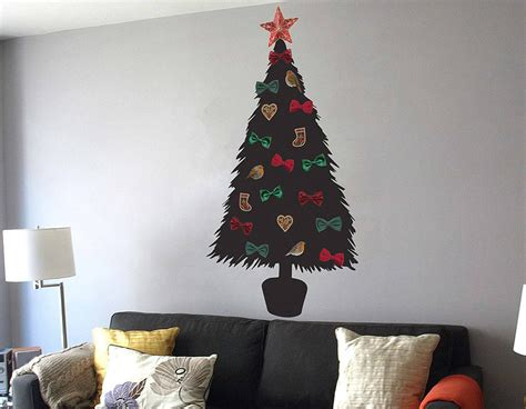 wall christmas trees diy christmas tree wall sticker contemporary wall stickers