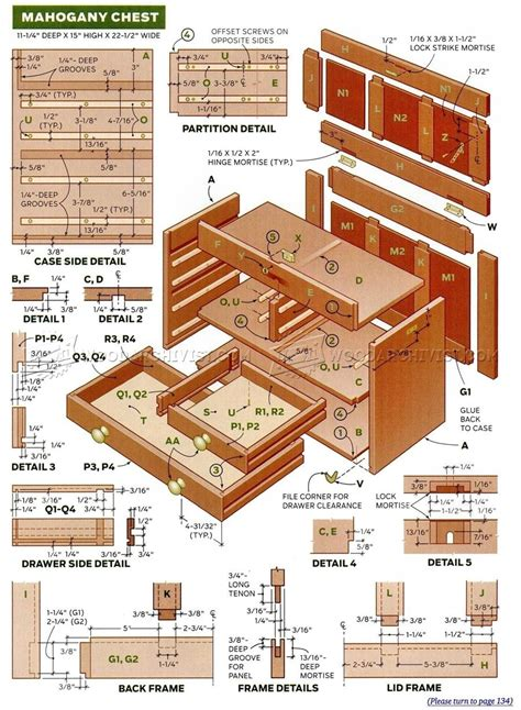 small chest  drawers plans woodarchivist