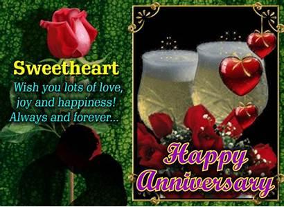 Lots Wish Anniversary Card Happy Sweetheart