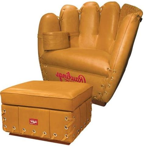 Baseball Glove Chair Rawlings by Baseball Chair More Baseball Themed Products For Its