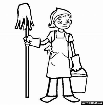 Cleaning Clipart Coloring Pages Clean Clip Spring
