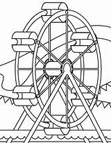Coloring Park Pages Amusement Wheel Ferris Colouring Coaster Roller Miscellaneous Sheets Printable Source Getcolorings Getdrawings Popular sketch template