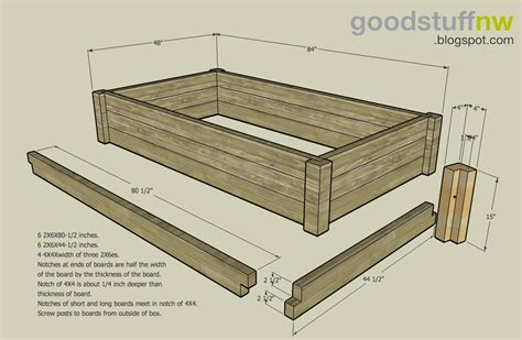 raised garden bed plans stuff nw may 2008