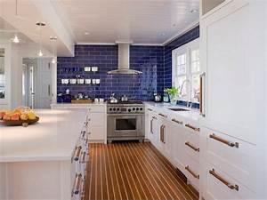 mediterranean kitchen cabinets blue glass backsplash With kitchen back splashes with blue