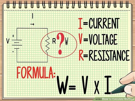 how to calculate wattage formula and tools wikihow