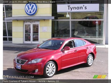 red lexus is 250 2006 matador red mica 2006 lexus is 250 awd black interior