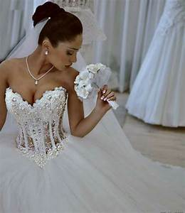 2015 vestido de noiva white strapless romantic wedding With wedding dresses with pearls and lace