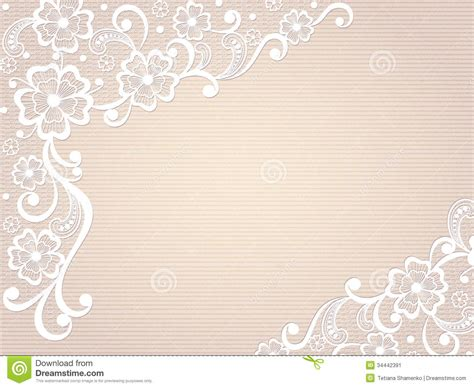 Vintage Lace Invitation Card. Stock Vector